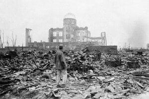 Zničené japonské mesto Hirošima.