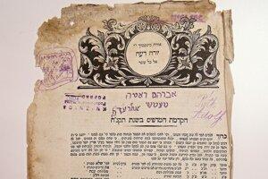 Prvá strana judaika.