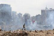 Explóziou zničená časť Bejrútu.