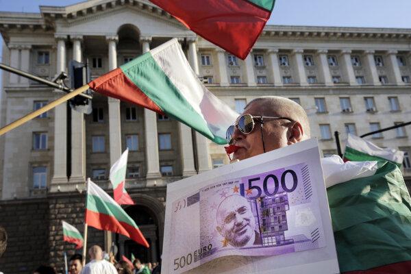 Protivládne protesty v Bulharsku.