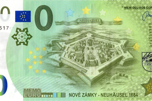 V poradí už tretia suvenírová bankovka Nových Zámkov má ako  ústredný motív historickú pevnosť.