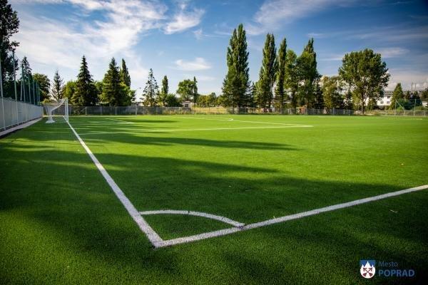 Nové futbalové ihrisko v Poprade.