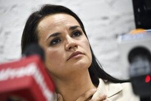 Kandidátka prezidentských volieb v Bielorusku Sviatlana Cichanovská.