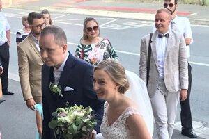 Novomanželia Tomekovci.