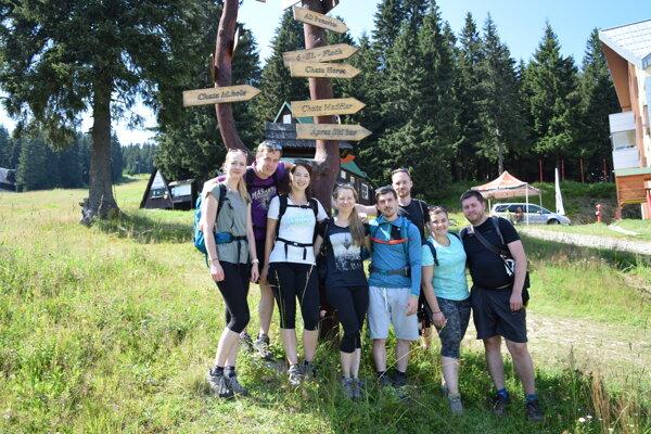 Partia mladých turistov od Brna. Tiež ich zlákala ferrata.