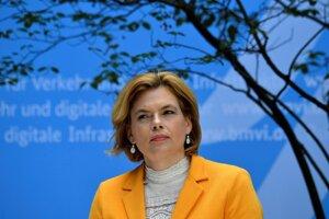 Spolková ministerka poľnohospodárstva Julia Klöcknerová.