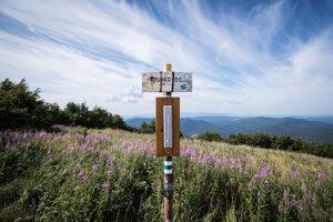 Pohľad na Poloniny a Vihorlat z vrchu Ďurkovec (1 188,7 m n. m.). Vrch v Bukovských vrchoch, zároveň v Národnom parku Poloniny.