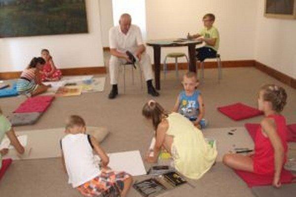 Prázdninové maľovanie v galérii potrvá do 25. augusta.