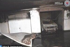 Požiar v podzemnej garáži.