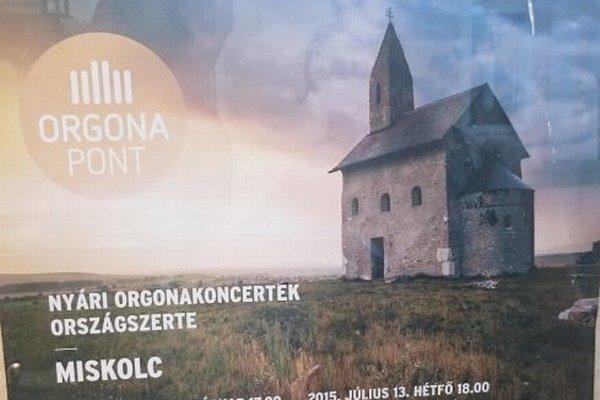 Dražovský kostolík na plagáte v Miškolci.