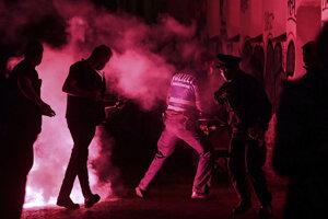 Polícia zasahuje v Lipsku.