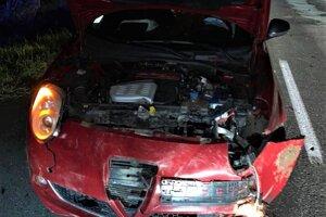 Takto dopadlo po zrážke so zverou auto.