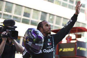 Lewis Hamilton po triumfe na VC Toskánska