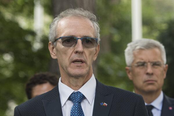 Europoslanec Ivan Štefanec (KDH) a minister zahraničia Štefan Korčok (nom. SaS).