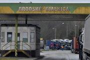 Diaľničný hraničný priechod Brodské - Břeclav.