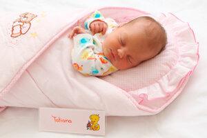 Tatiana Humajová z Nedožier-Brezian sa narodila 20.8. v Bojniciach