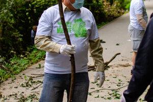 Takto vyzeralo čistenie Partizánskej lúky v  Bratislavskom lesoparku.