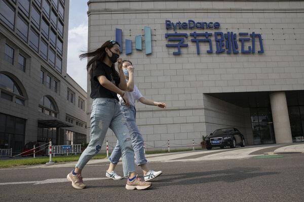 Čínska firma ByteDance, ktorá vlastní videoaplikáciu TikTok.