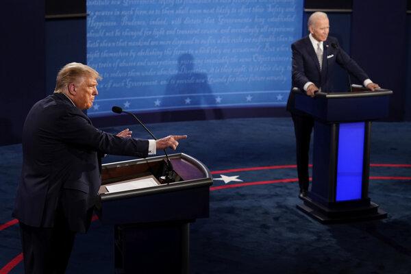 Trump a Biden v prevej debate. Foto: TASR/AP