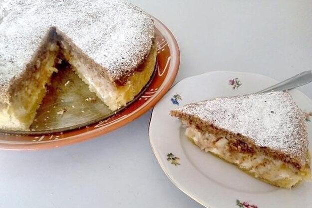 Tvarohovo-jablkový koláč