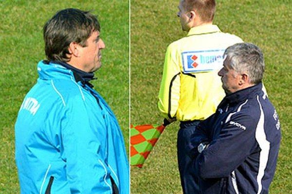 Bývalí spoluhráči a dlhoroční kamaráti Michal Hipp a Ladislav Molnár mali rušnú spoločnú tlačovku po zápase.