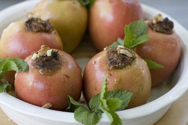 Pečené plnené jablká