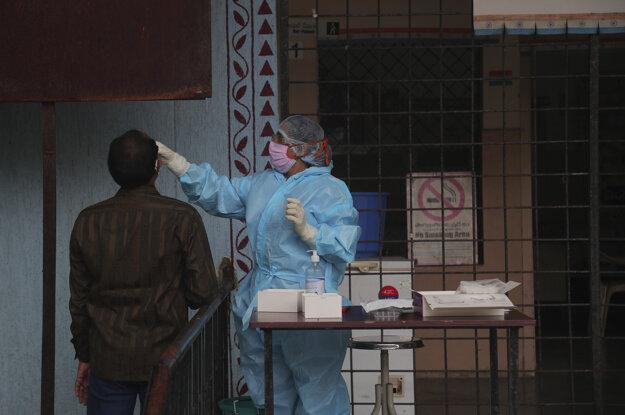 Testovanie na prítomnosť nového koronavírusu SARS-CoV-2 v Indii.