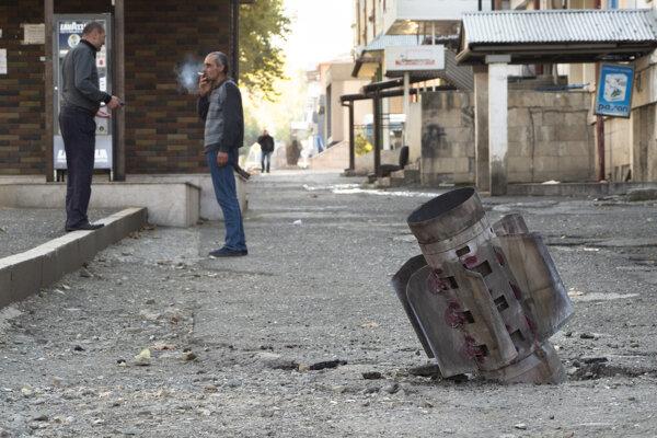 Bombarodovaný Stepanakert