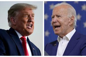 Donald Trump a Joe Biden.