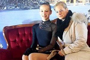 Lucia Štefanková s trénerkou M. Kuštárovou v Prahe.