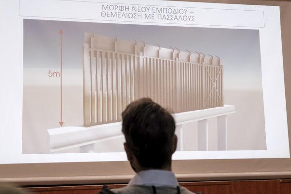 Vizualizácia plotu medzi Gréckom a Tureckom.