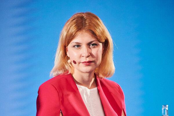 Ukrajinská vicepremiérka pre otázky európskej a euroatlantickej integrácie Oľga Stefanišyna.