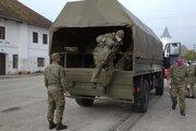 Príchod armády do Veličnej.