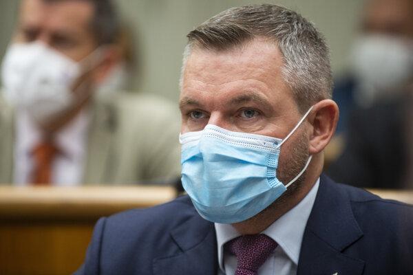 Na snímke nezaradený poslanec NR SR Peter Pellegrini počas 16. schôdze parlamentu v Bratislave v stredu 21. októbra 2020.