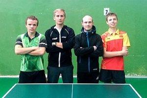 Štvorica Ukrajincov pôsobí v klube ŠOG Nitra. Zľava Daniil Leščenko, Valerij Rakov, Andrij Sitak a Nikita Maljejev.