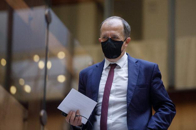 Richard Rybníček po skončení zasadnutia krízového štábu.