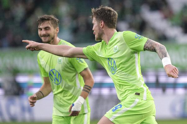 Momentka zo zápasu Wolfsburg - Bielefeld.