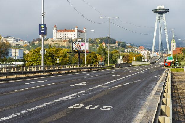 Nedeľná Bratislava počas lockdownu.