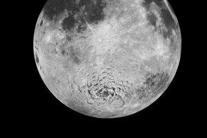 Južný pól Mesiaca. V tejto oblasti má v roku 2024 pristáť misia Artemis III.