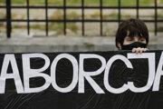 Z protestov proti sprísneniu interrupčného zákona v Poľsku.