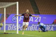 Zlatan Ibrahimovič v drese AC Miláno.