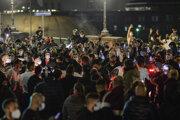 Piatkový protest v Neapole