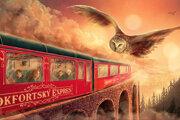 Ilustrácia na boxe, ktorý drží pokope všetkých sedem dielov Harryho Pottera.