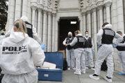 Polícia na mieste útoku v Nice.