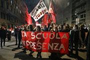 Protest v Ríme.