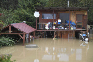 Povodeň v Kysaku.