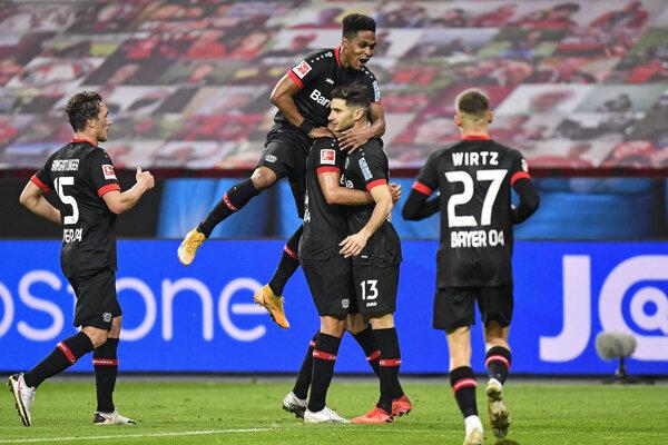 Radosť futbalistov Leverkusenu.