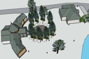 Vizualizácia projektu Rotunda na Železnej studničke.