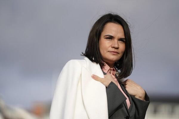 Predstaviteľka bieloruskej opozície a bývalá prezidentská kandidátka Sviatlana Cichanovská.