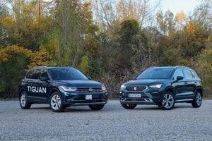 Nový Volkswagen Tiguan a nový Seat Ateca.